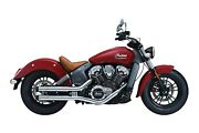 Crusher 624 Maverick Slip-on Exhaust For 2015-19 Indian Scout - Chrome