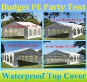 20'x16', 26'x16', 32'x16', 40'x16' Budget Pe Party Wedding Tent Shelter Canopy