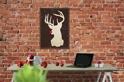 Rudolph In White Christmas Winter Wood Print - Cool Distressed Sign 2572