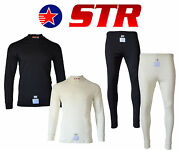 Str Club Rayon/nomex Set Fia Approved Race Underwear Fire Retardant Top And Bottom