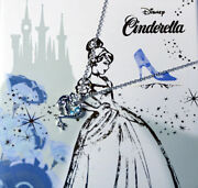 Disney Cinderella Princess Glass Shoes Necklace Silver Christmas Limited