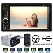2 Double Din 6.2 Stereo Car Dvd Lcd Bluetooth For 2007-2014 Chrysler Dodge Jeep