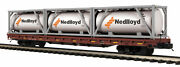 Mth Premier O 101124 Norfolk Southern 60' Flat Car W' Tank Containers 20-95292