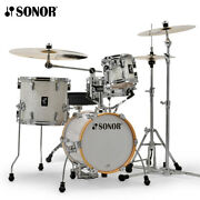 New Sonor Aq2 Martini Maple 4 Piece Drum Set Shell Pack - White Marine Pearl