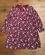 Authentic Madewell Button-back Dress In Antique Flora Xxs 128. Nwt