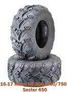 2 26x10r12 16-17 Hisun Hs 500/700/750 Sector 450 Atv Rear Tire Set Radial