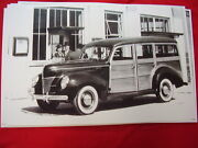 1940 Ford Woody Station Wagon 11 X 17 Photo / Picture