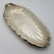 Reed And Barton Sterling Silver 12.5' Inch Leaf Shape Candy Fruit Dish Tray Plate