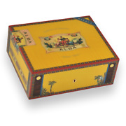 Cigar Humidor Elie Bleu Yellow Sycamore Holds 75 Cigars Alba Collection