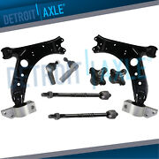 Front Lower Control Arms + Tierods Ball Joint For 06 - 09 A3 Quattro Rabbit Fwd