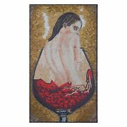 Human Innocent Naked And Drowning In Wine Marble Stone Fine Mosaic Wall Art