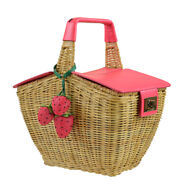 Nwt Kate Spade Strawberries Picnic Perfect 3d Wicker Basket Sold Out
