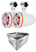 Ds18 Nxl6tpw 6.5 Marine Pod Tower Speakers 1 Compression Driver Rgb 450w White