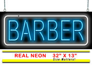 Barber Neon Sign   Jantec   32 X 13  trim Shave Cut Hair Walk In Welcome Color