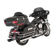 Vance And Hines Monster Ovals Chrome-plated Ends Black Harley Davidson Touring