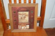 Framed Coin And Stamp Set The American Indian Commemorative Framed Wall Hanging