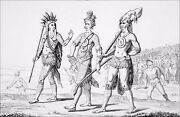 Usa - Indian Warriors Of Florida In 1830 - Engraving From 19th Century