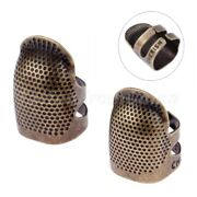 1pc Antique Metal Brass Sewing Finger Protector Thimble Needles Sewing Tools