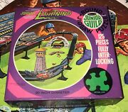 Johnny Lightning Round Jigsaw Puzzle 1970 Boxed Complete Topper Whitman
