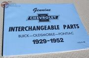 Chevy Gm Parts Interchange Part Number Reference Guide Book Catalog