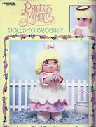 Precious Moments Dolls To Crochet Booklet - 16 Dolls And Clothes - Leisure Arts