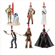 Disney Store Star Wars 40th Anniversary Darth Leia R2-d2 Limited Ornament Set