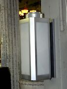 Pair Of Large Vintage Art Deco Light Sconces From A Theater