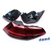 Fit For Vw Golf Gti Dark / Red Led Rear Lamps Led Tail Lights 2014-2018 New-4pc