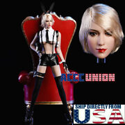 1/6 Sexy Female Head Sculpt With Pistol Clothing Set A For 12 Phicen Female Usa