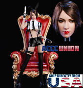 1/6 Sexy Female Head Sculpt With Pistol Clothing Set B For 12 Phicen Female Usa