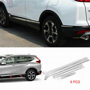 Stainless Steel Body Side Door Moulding Cover Trim Fits For 2017-2020 Honda Crv