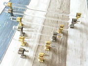 Lucite Handles Acrylic Cabinet Handle Drawer Pull Dresser Knob Gold Silver Clear