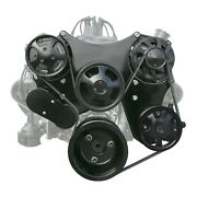 Chevy Small Block Serpentine Front Drive System All Black