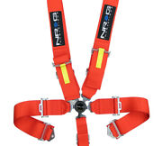 Nrg Red 5 Point Racing Sfi Safety Seat Belt Harness Cam Lock Sbh-rs5pcrd