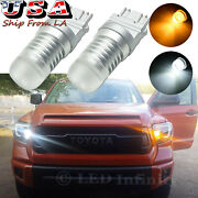 Led Front Turn Signal Parking Light For Toyota Tundra 2000-2020 Switchback 3157