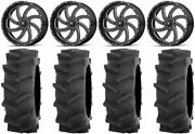 Msa Milled Switch 20 Atv Wheels 35 R4 Tires Can-am Renegade Outlander
