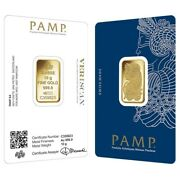 Lot Of 2 - 10 Gram Gold Bar Pamp Suisse Lady Fortuna Veriscan In Assay