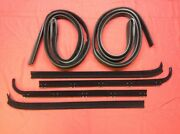 1980-1986 Ford Truck And Bronco Door Window Sweep And Felt Kit Left And Right