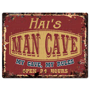 Ppwm1214 Hai's Man Cave Rules Chic Sign Man Cave Decor Funny Gift