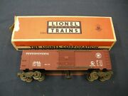 Lionel 3484 Pennsylvania Operating Boxcar With Man In Excellent Condition In Ob