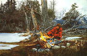 Paul Calle Return To Camp Campfire Mountains Limited Edition Canvas