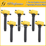 Performance Ignition Coil 6pcs For Chrysler Dodge Jeep Ram 3.2/3.6l V6 Yellow