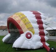 15and039w X 12and039 H Inflatable Indian Headdress Sports Tunnel