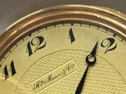 Henry Moser Swiss Pocket Watch Extra Thin 14k Gold Case Lever Escapement