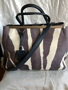 Authentic Fendi Shopping 2 Jours Calf Hair Limited Hand Bag—3,450.00