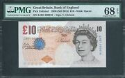 Great Britain Qeii Very Low No. 18 Cleland Set Andpound10 - Andpound50 All Gem To Superb Gem