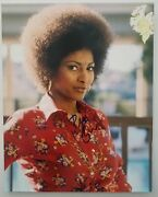 Pam Grier Signed 8x10 Photo Actress Foxy Jackie Brown Coffee Mars Attacks Rad
