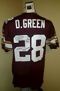 Darrell Green Hand Signed Stat Limited Ed. 2002 Redskins 70th Jersey 20th Patch