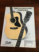 1977 Vintage 8.25x10.75 Print Ad For Quality By Guild Madeira Acoustic Guitars