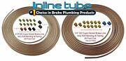 Copper Nickel Brake Line Tubing Kit 3/16 And 1/4 25 Ft Coil Rolls With Fittings